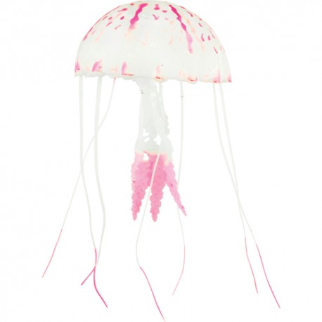 Silicone Jelly Fish, large, red, ca. 22 cm