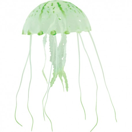 Silicone Jelly Fish, large, green, ca. 22 cm