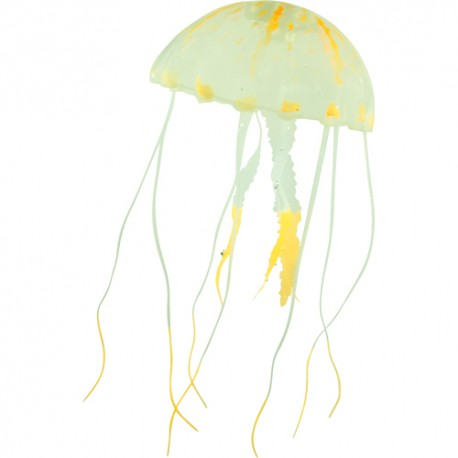 Silicone Jelly Fish, large, orange, ca. 22 cm