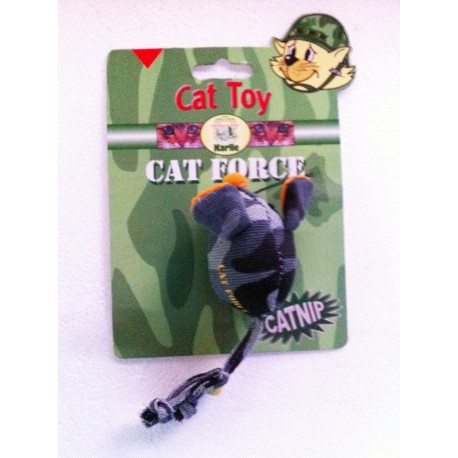 Cat Force stor cat med catnip