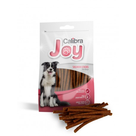 14 stk. JOY DOG SALMON STICKS 80g - Med laks