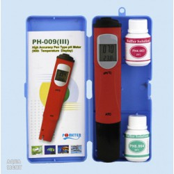 AquaLight, pH / °C.-Tester/ATC + calibration liquids